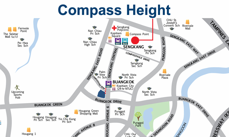 Sengkang Compass Height Resale  Location Map Sengkang New Launch Balance Units