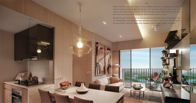 Sengkang Riverbank Showroom Photo of Living and Dining Area. Sengkang New Launch Balance Units