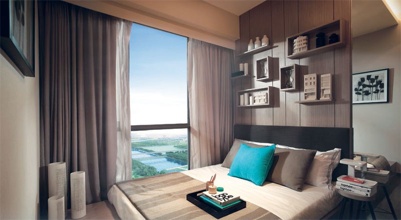 Sengkang Riverbank Showroom Photo of Master Bedroom. Sengkang New Launch Balance Units