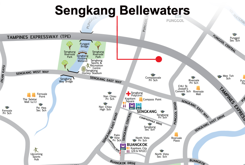 Bellewaters Resale Balance Units Location Map