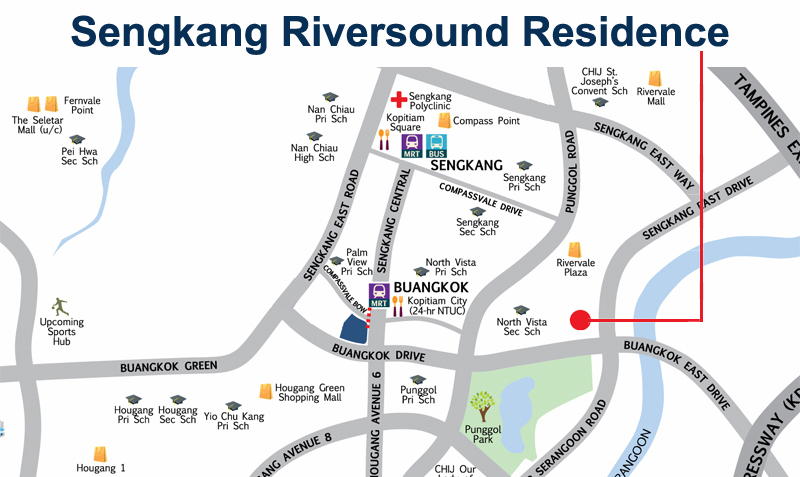 Sengkang Riversound Residence Resale Unit Location Map Sengkang New Launch Balance Units
